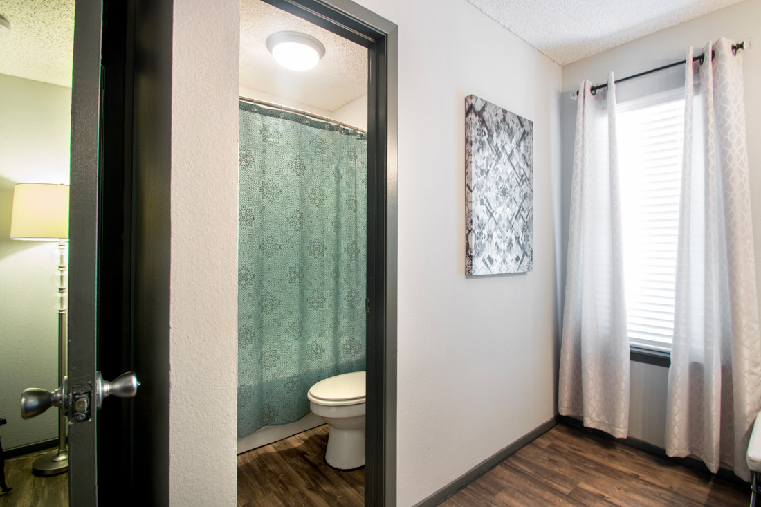 Spacious Bathrooms at Songbird Apartments in San Antonio, Texas