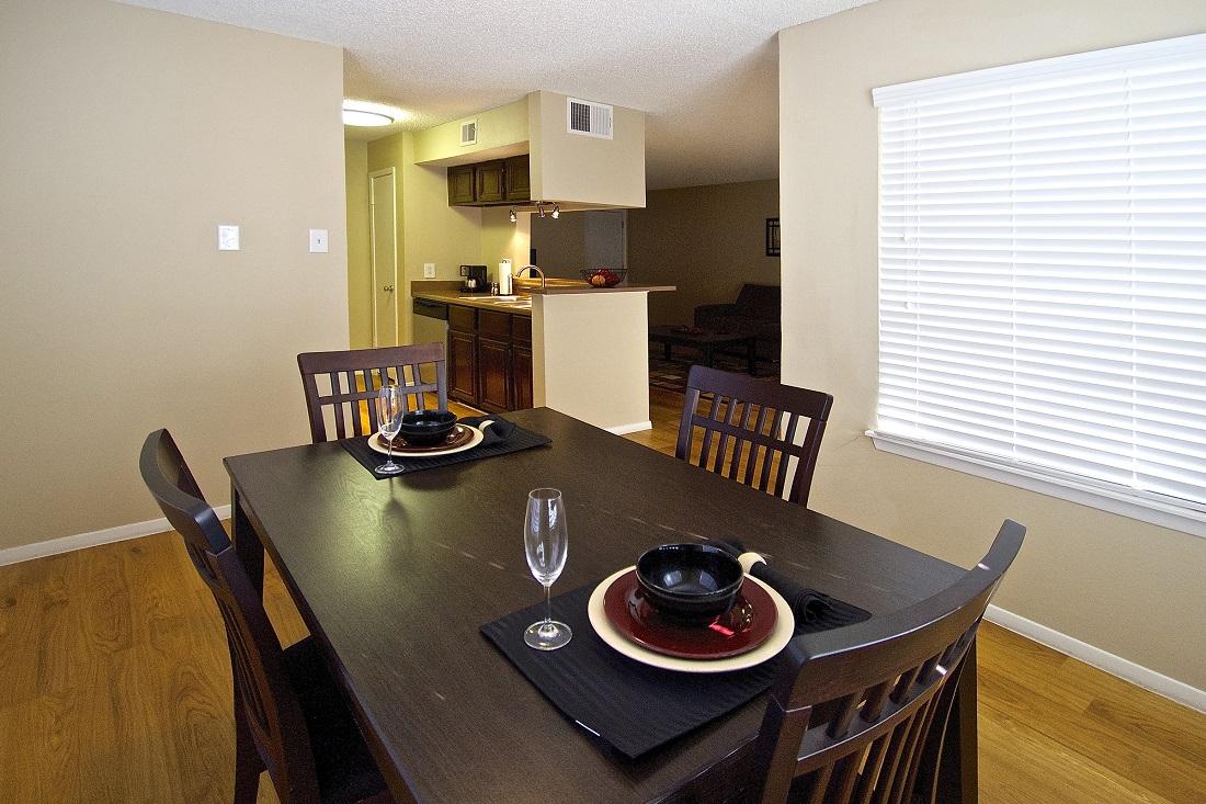 Separate Dining Room at Songbird Apartments in San Antonio, Texas