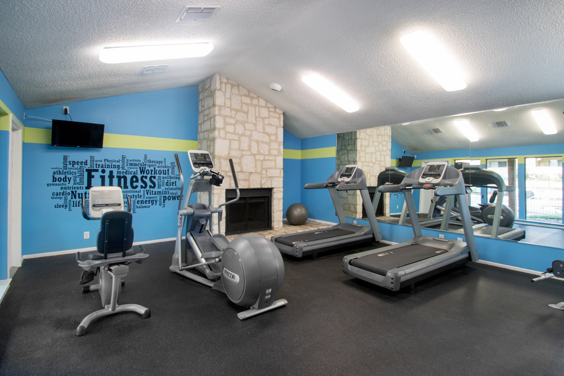 Fitness Center at Songbird Apartments in San Antonio, Texas