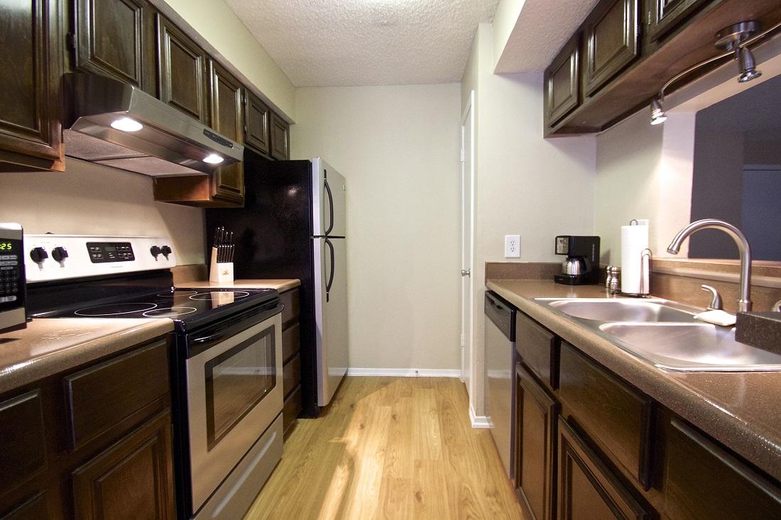 Stainless Steel Appliances at Songbird Apartments in San Antonio, Texas