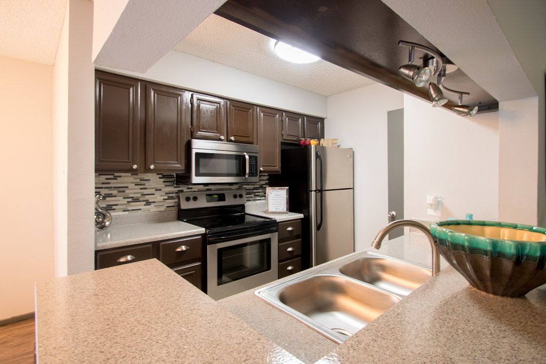 Stainless Steel Appliances at Songbird Apartments in San Antonio, Texas