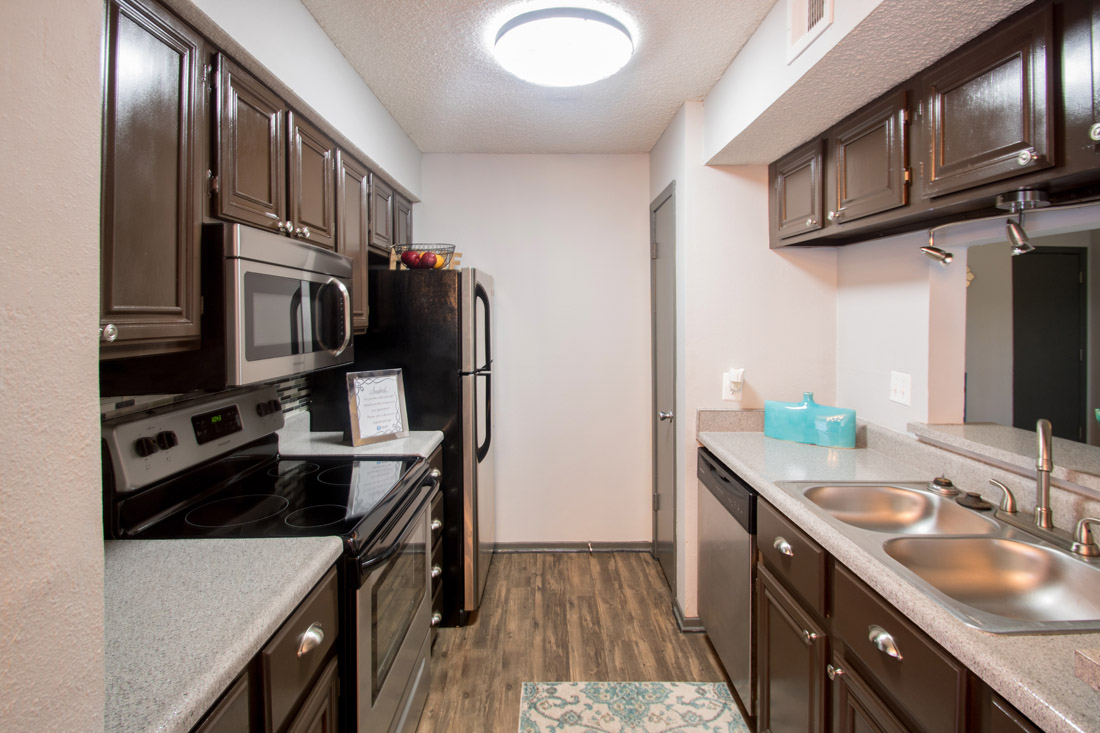 Updated Kitchen at Songbird Apartments in San Antonio, Texas