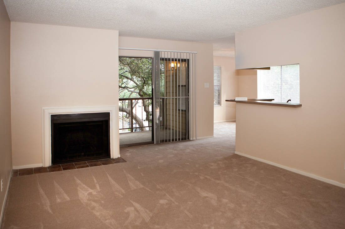 Cozy Fireplaces at Songbird Apartments in San Antonio, Texas