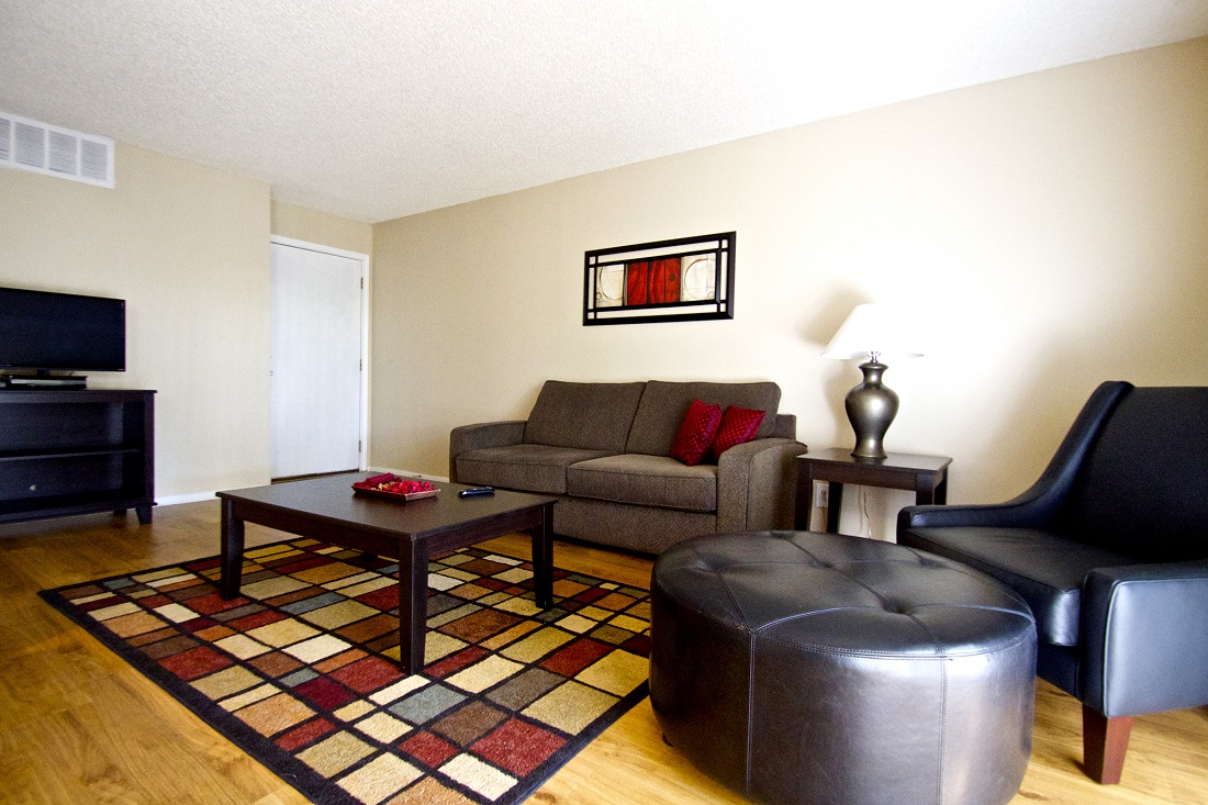 Spacious Living Room at Songbird Apartments in San Antonio, Texas
