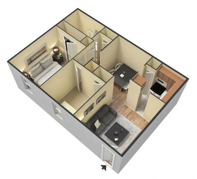 South Creekside Apartments - Floorplan - 2BR