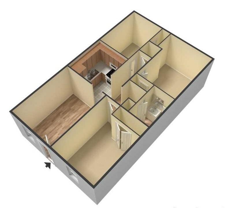 South Creekside Apartments - Floorplan - 3BR