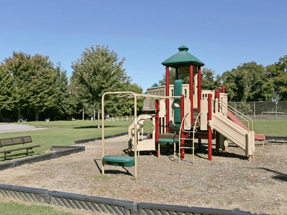 Children's Play Area at South Creekside Apartments in Fayetteville, AR