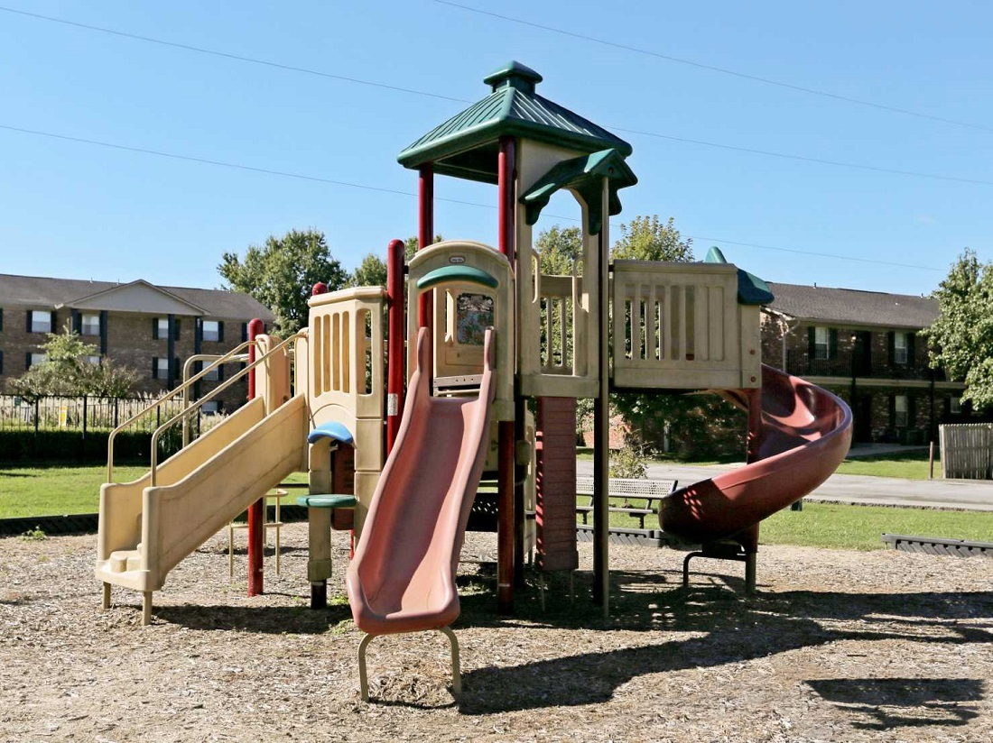 Playground at South Creekside Apartments in Fayetteville, AR