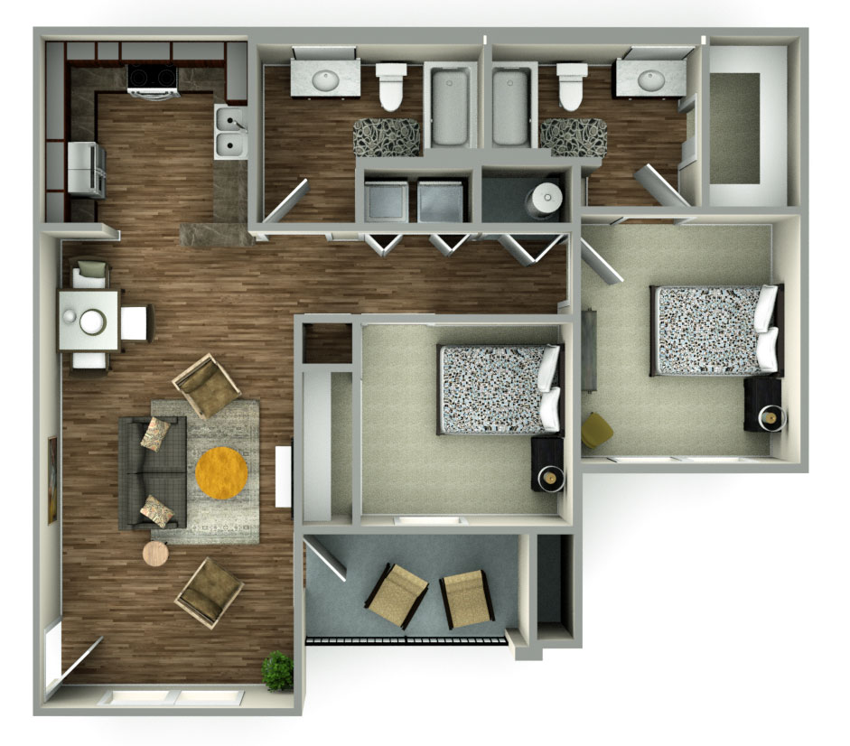 Floorplan - 2bed image
