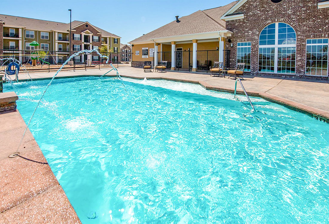Heated Pool at The Reserves at South Plains Apartments in Lubbock, Texas