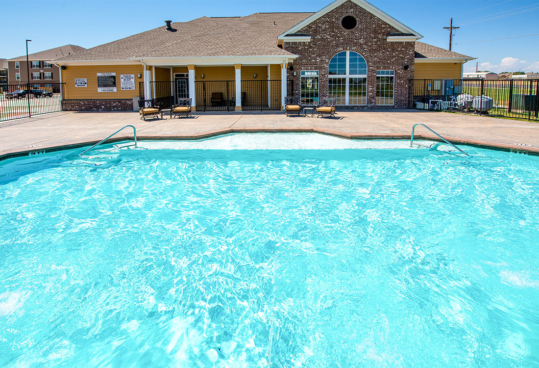 Large Swimming Pool at The Reserves at South Plains Apartments in Lubbock, Texas