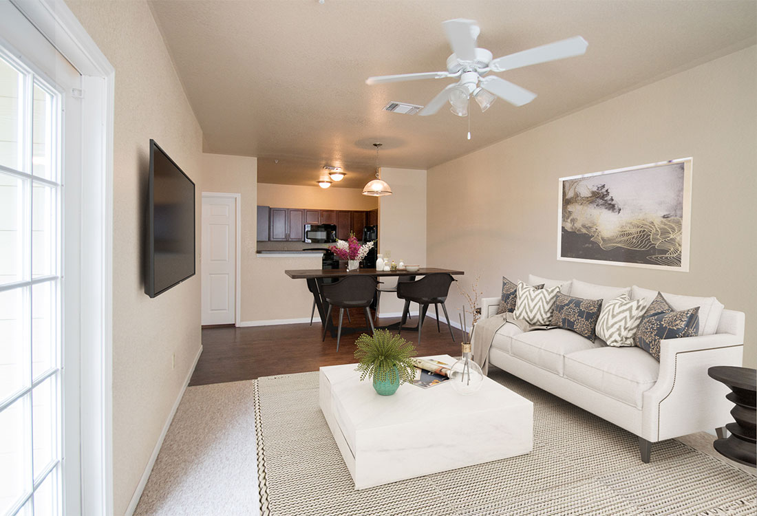 Ceiling Fans at The Reserves at South Plains Apartments in Lubbock, Texas