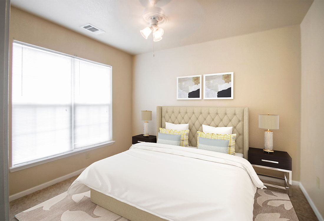 Bedrooms at The Reserves at South Plains Apartments in Lubbock, Texas