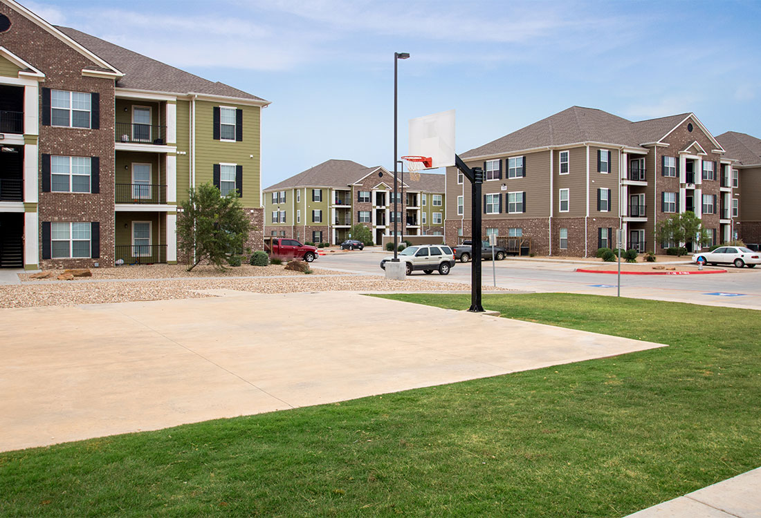 Basketball Court at The Reserves at South Plains Apartments in Lubbock, Texas