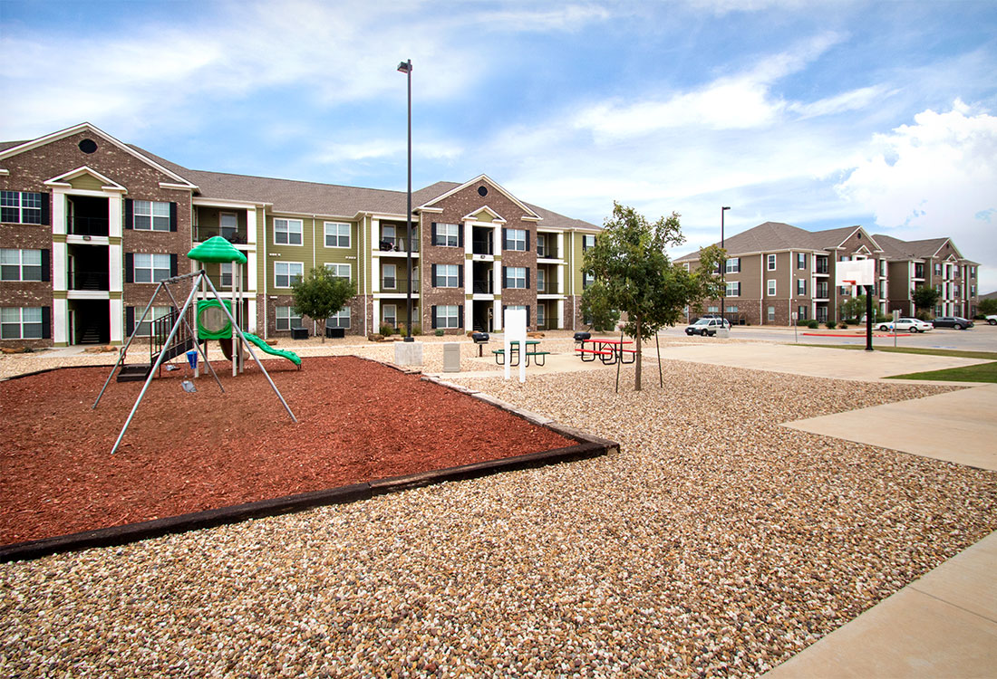 Playground at The Reserves at South Plains Apartments in Lubbock, Texas