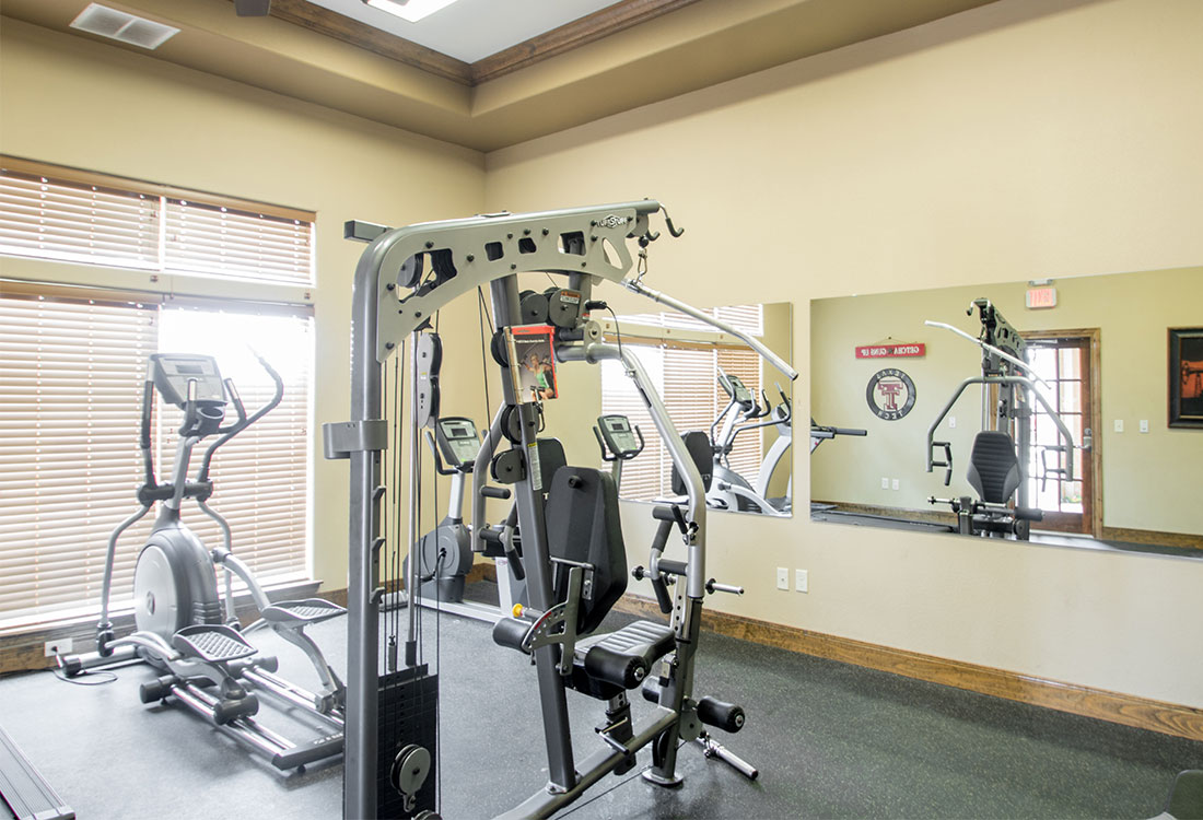 Fitness Center at The Reserves at South Plains Apartments in Lubbock, Texas