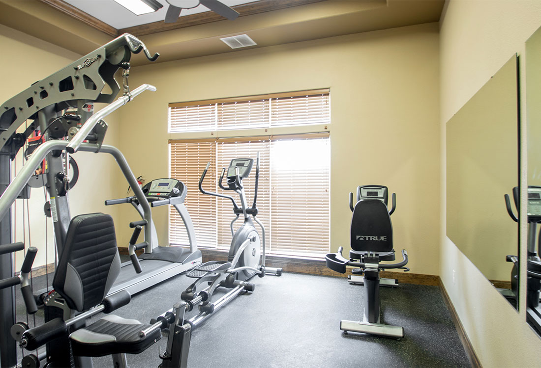 24-Hour Gym at The Reserves at South Plains Apartments in Lubbock, Texas