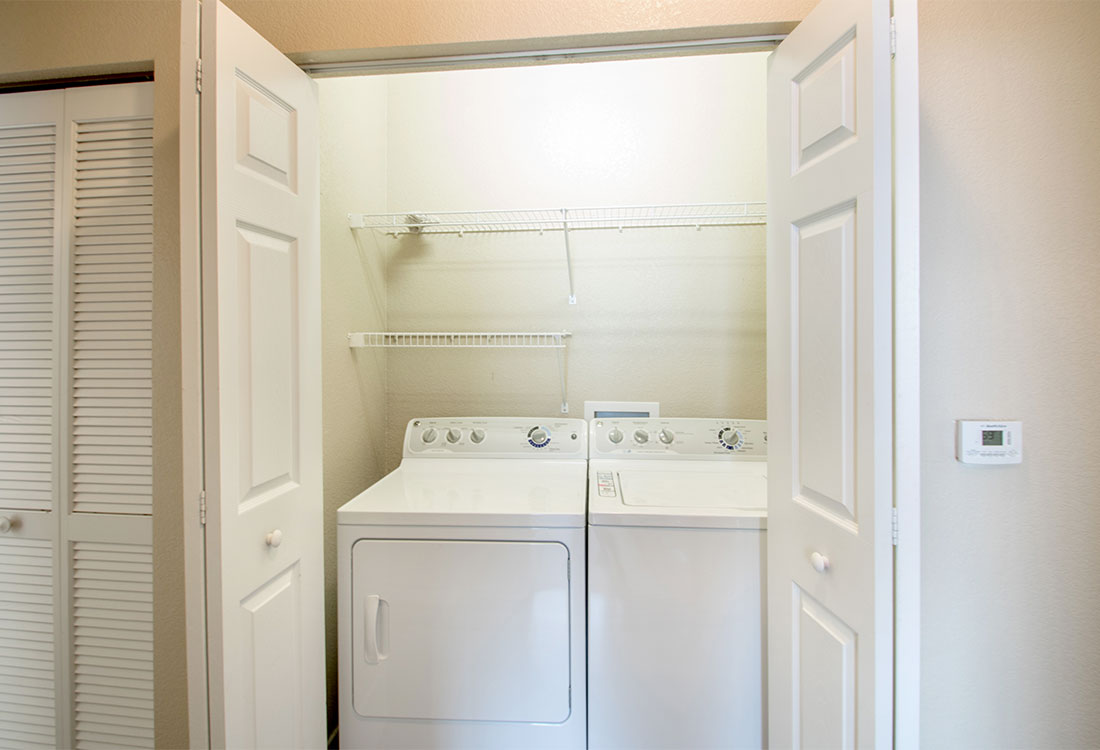 Full-Size Washer and Dryer at The Reserves at South Plains Apartments in Lubbock, Texas