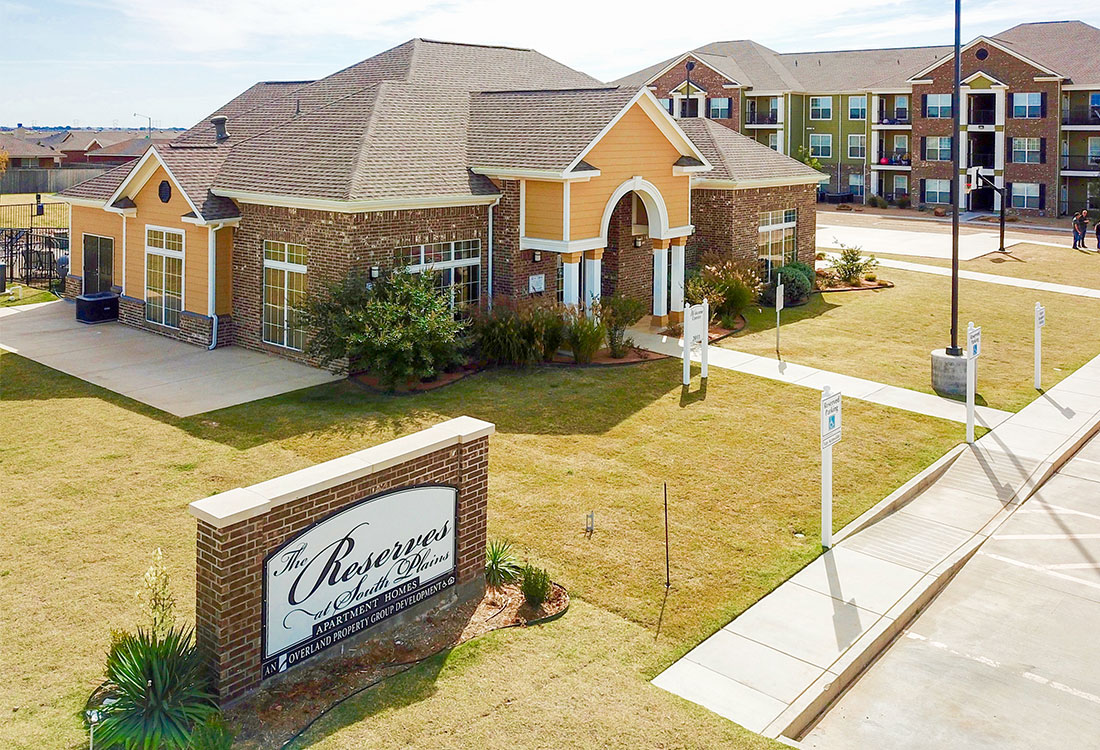 Welcome Signage at The Reserves at South Plains Apartments in Lubbock, Texas