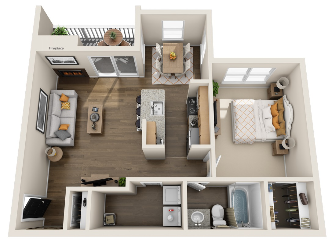 South Pointe Apartments - Floorplan - A2
