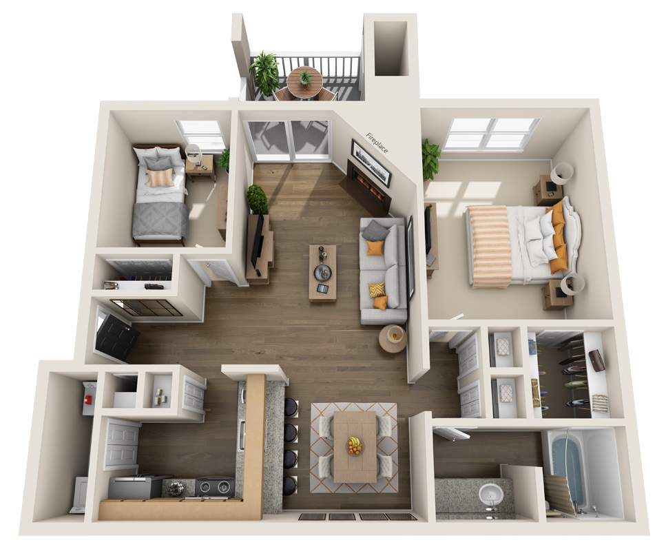 South Pointe Apartments - Floorplan - A3