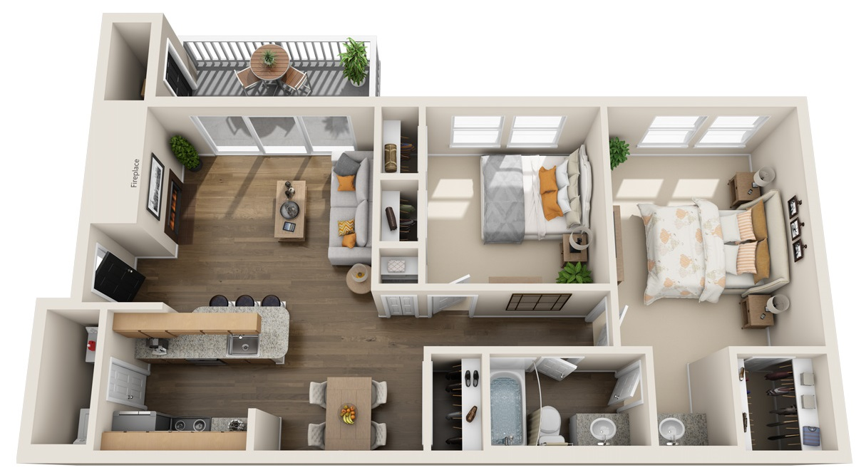 South Pointe Apartments - Floorplan - B1