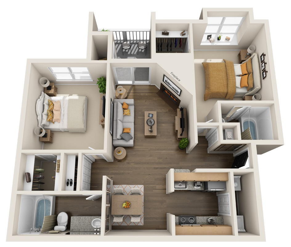 South Pointe Apartments - Floorplan - B2