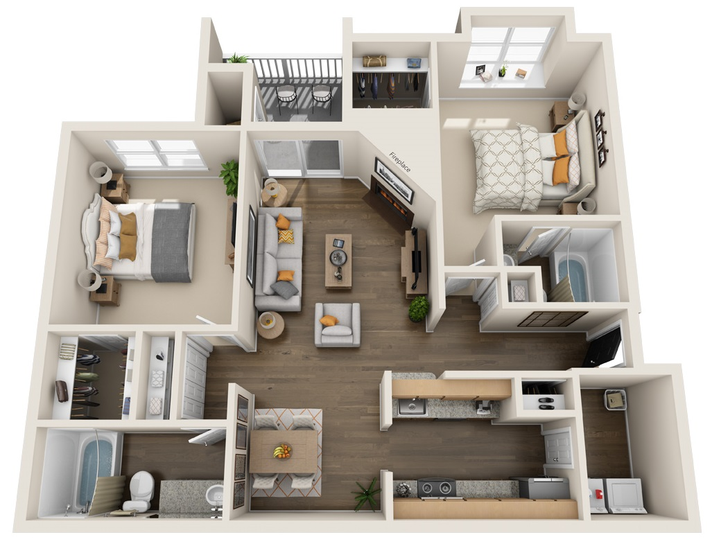 South Pointe Apartments - Floorplan - B3