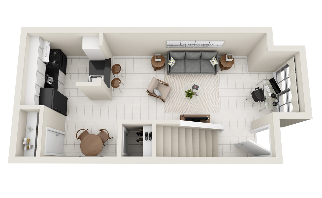 Spring Brook Lofts - Floorplan - The Camila