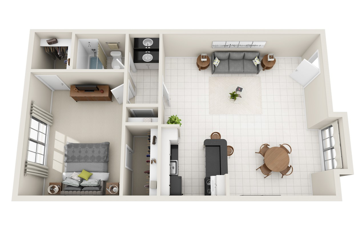 Spring Brook Lofts - Floorplan - The New York Loft