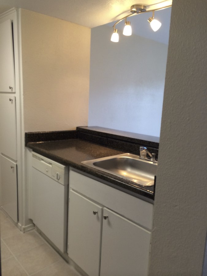 Black Granite-like Countertops at Spring Brook Lofts Apartments in Houston, Texas