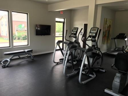 Fitness Center at The Quarters on Razorback Road Apartments in Fayetteville, AR