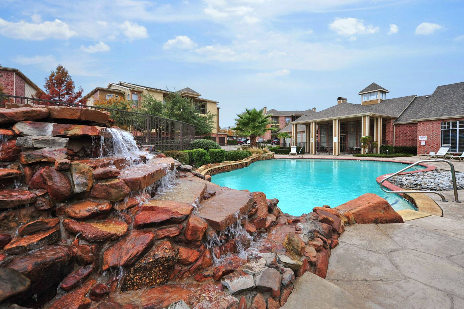 Sparkling Pool at Station 3700 Apartment Homes in Euless, Texas