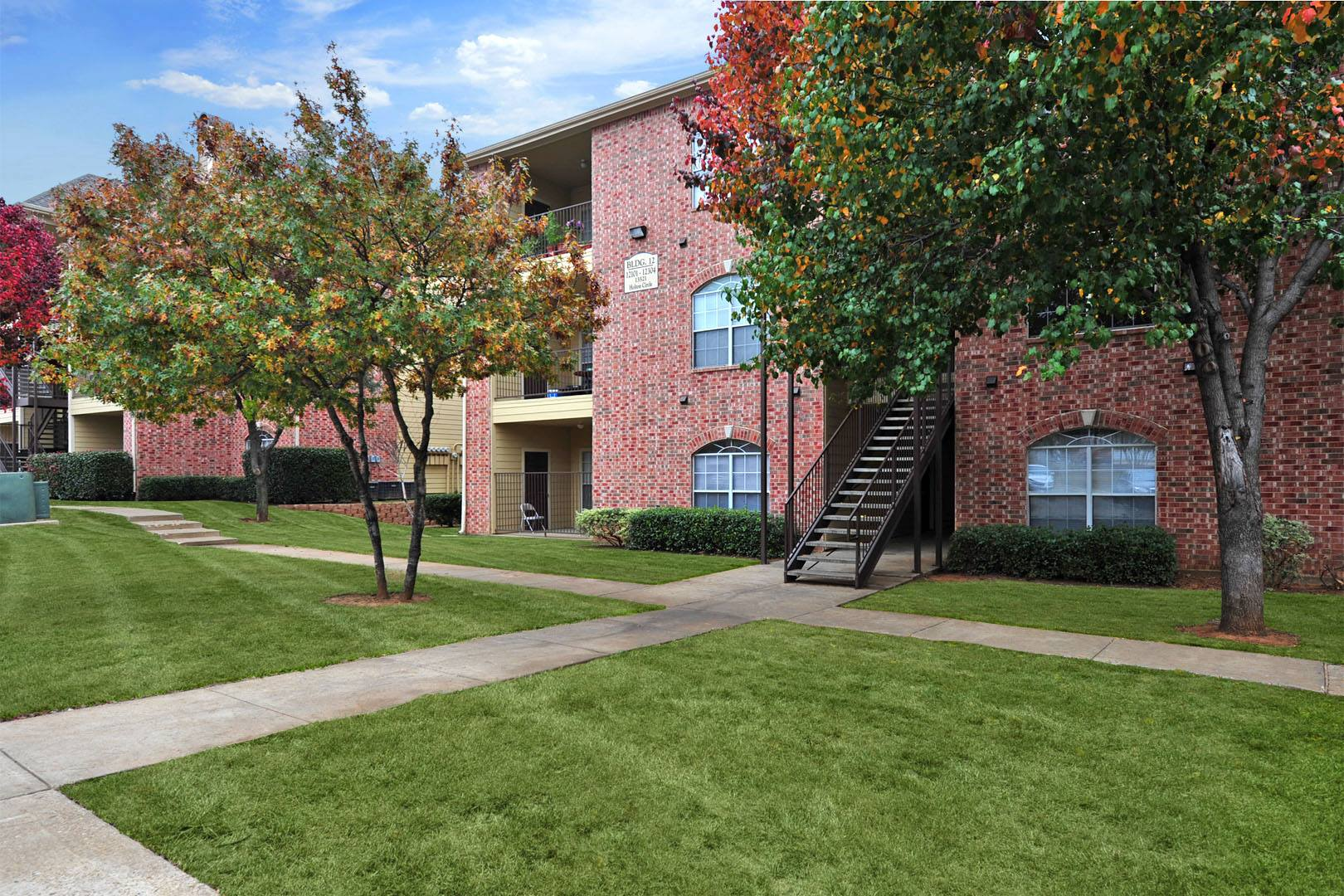 Lush Landscaping at Station 3700 Apartment Homes in Euless, Texas