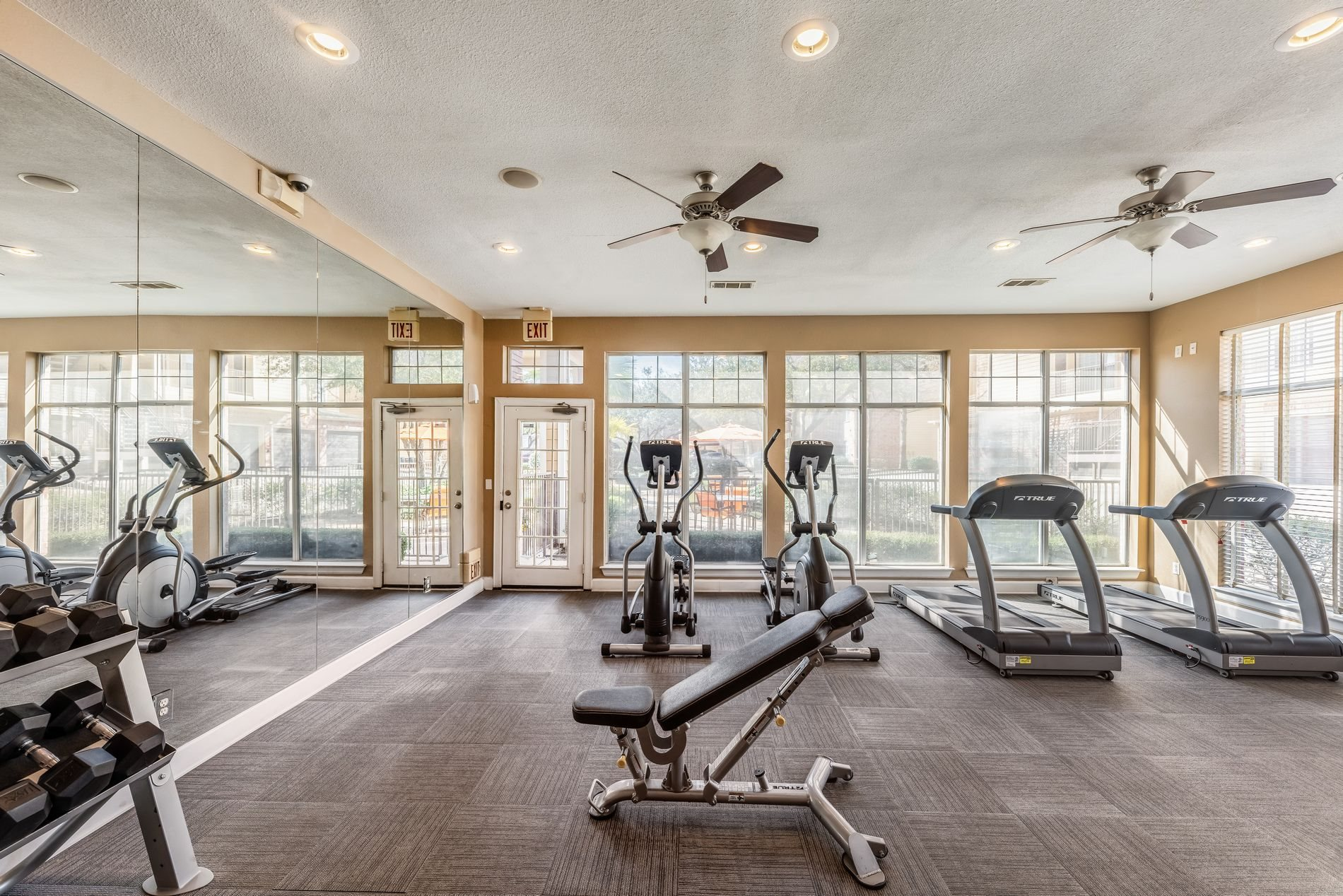 Fitness Center at Station 3700 Apartment Homes in Euless, Texas