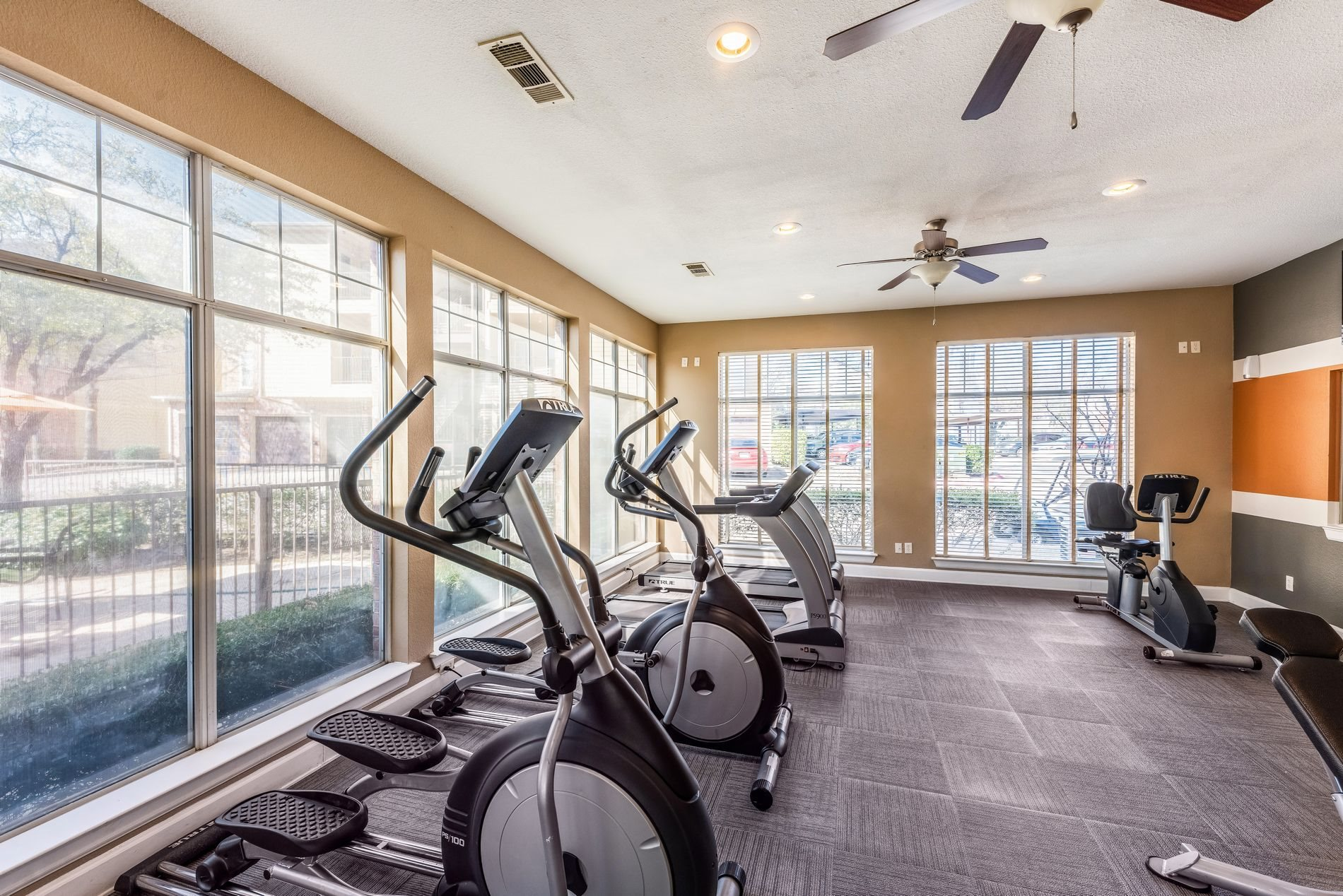 On-Site Gym at Station 3700 Apartment Homes in Euless, Texas