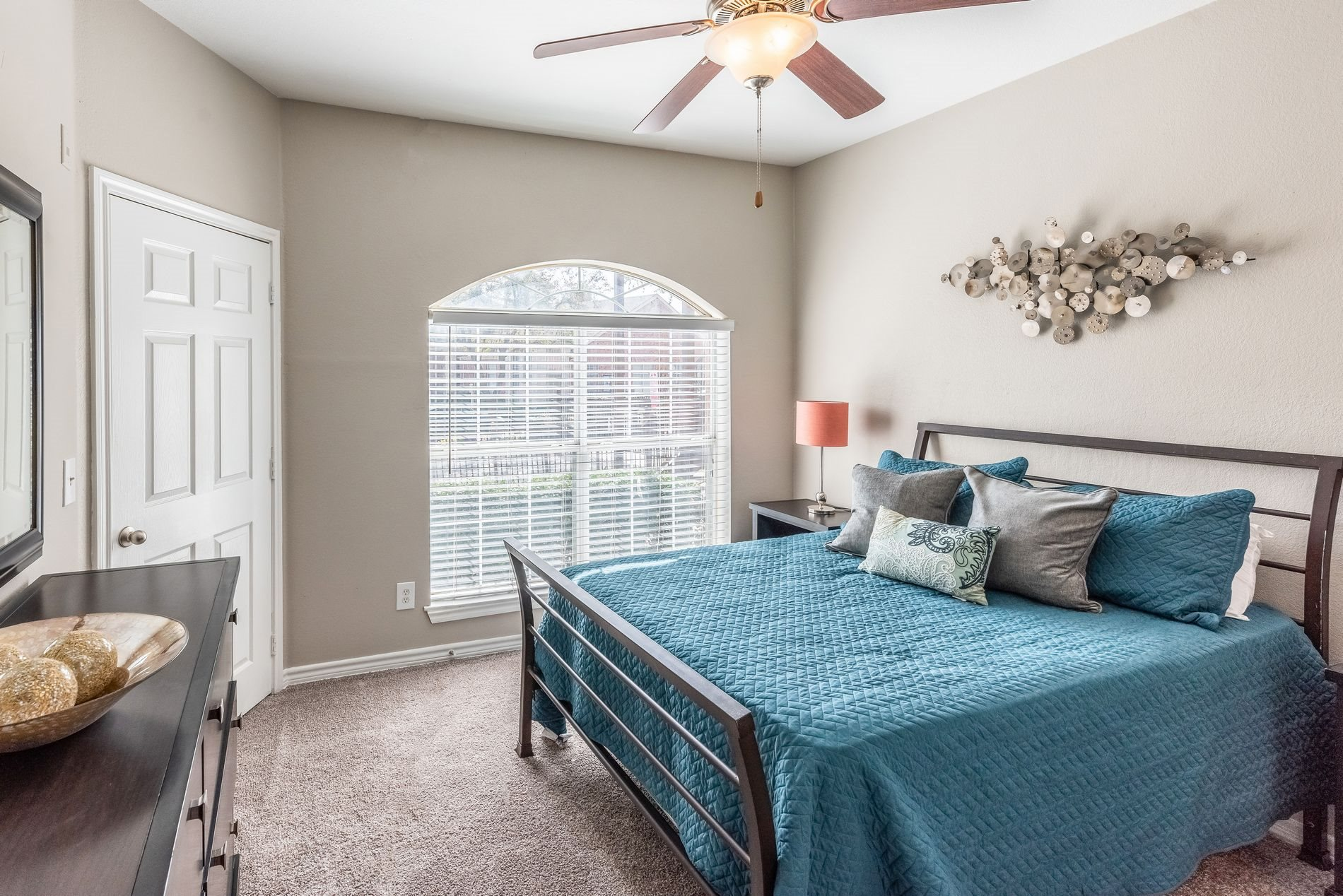 Cozy Bedroom at Station 3700 Apartment Homes in Euless, Texas