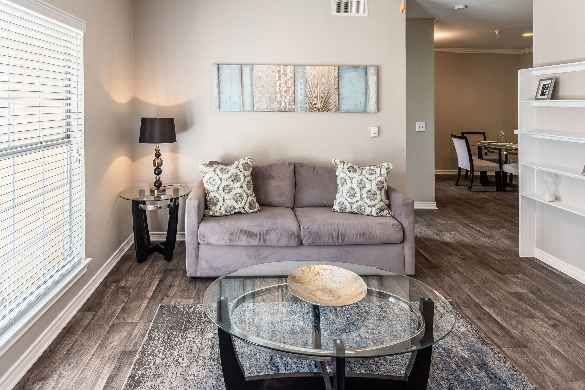 Living Area at Station 3700 Apartment Homes in Euless, Texas