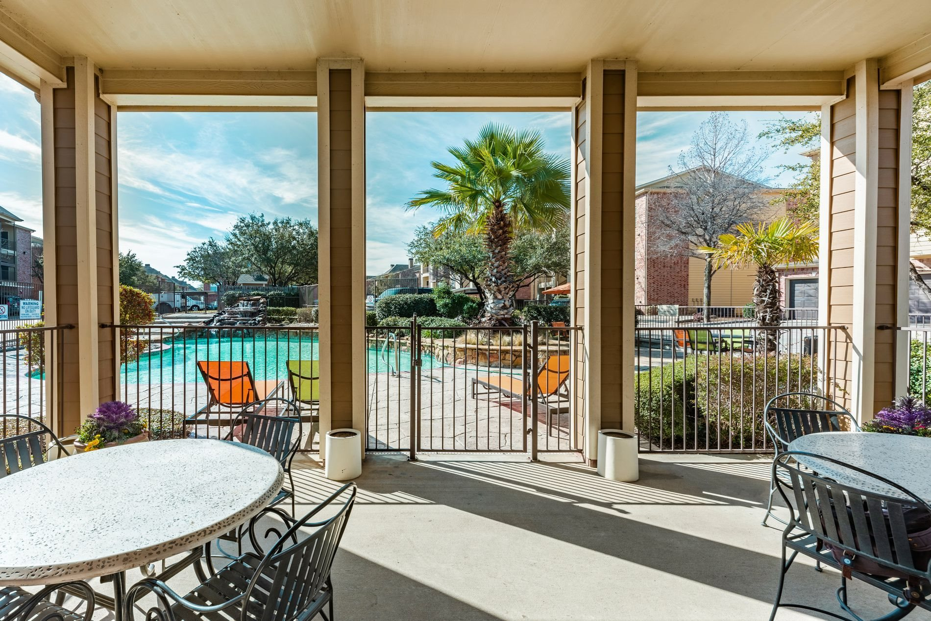 Swimming Pool Lounge at Station 3700 Apartment Homes in Euless, Texas