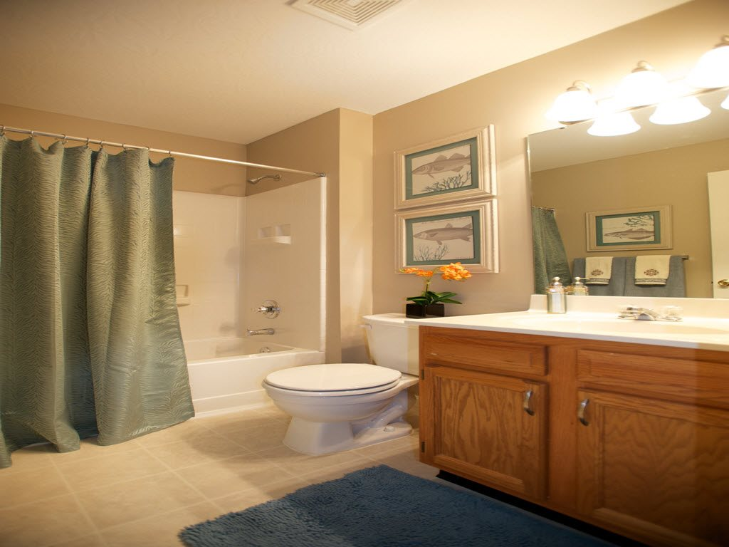Shower and Tub Combination at Stone Bridge Apartments in Mason, Ohio