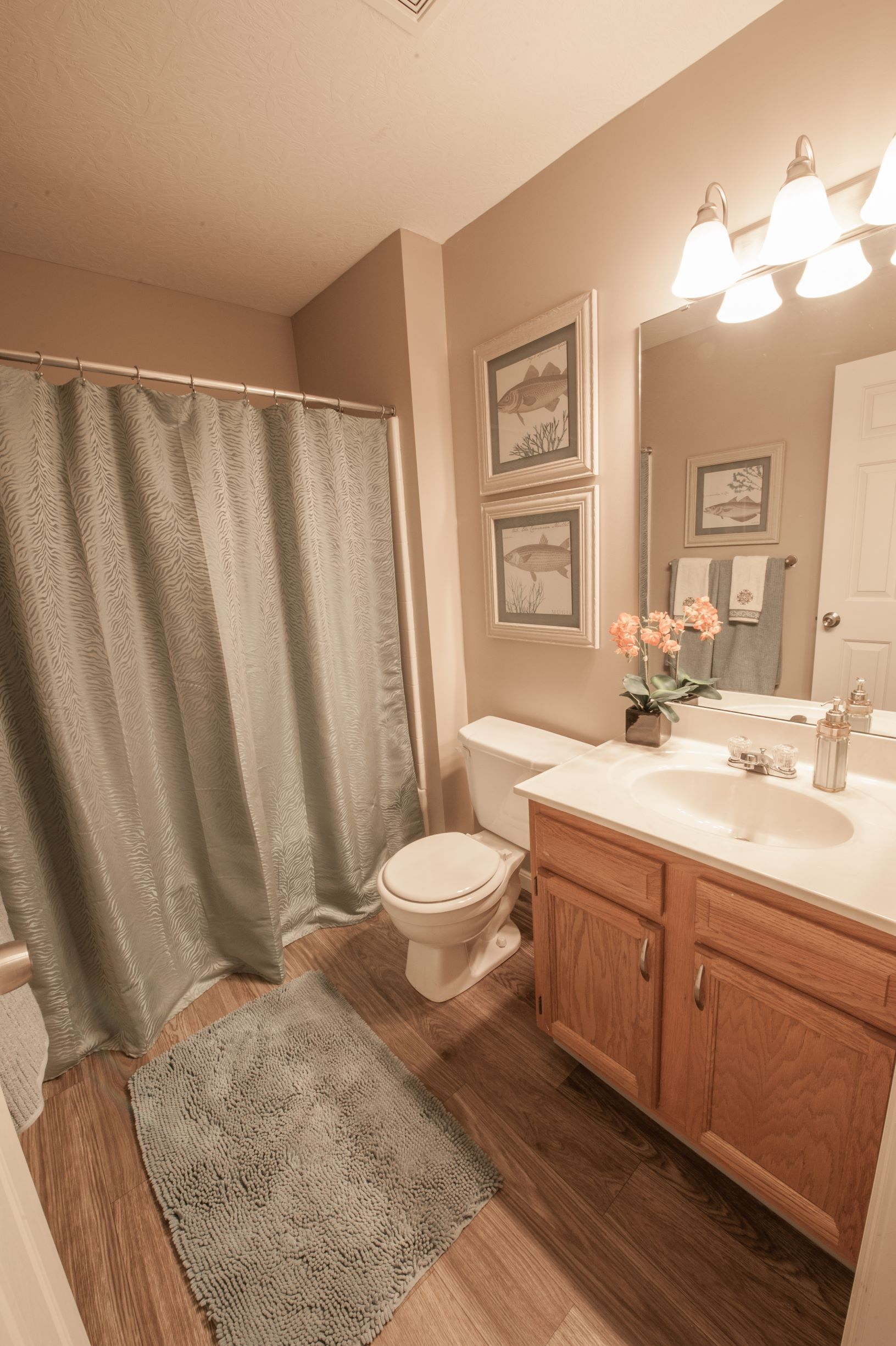 Shower and Bathtub Combination at Stone Bridge Apartments in Mason, Ohio