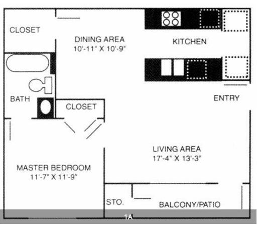 Stonebrook Village Apts. - Floorplan - 1A
