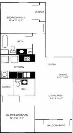 Stonebrook Village Apts. - Floorplan - 2B