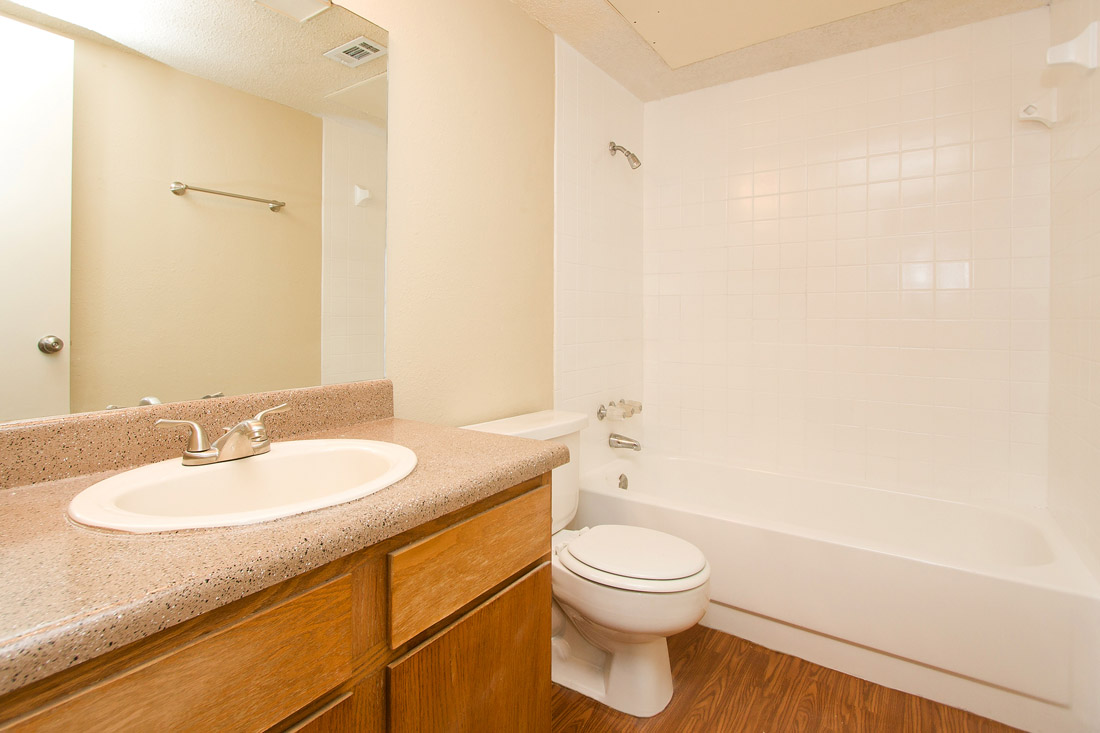 Spacious Bathrooms at Stonegate Apartments in Abilene, TX