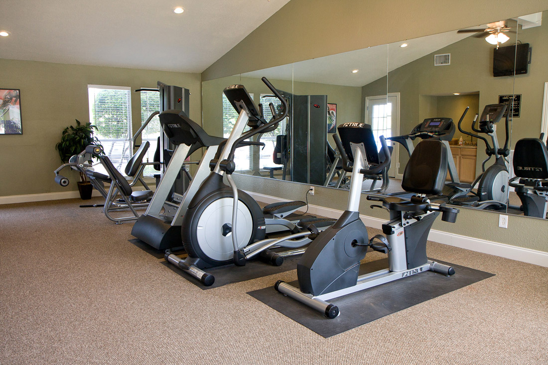 Modern Fitness Center at Stonegate Apartments in Abilene, TX