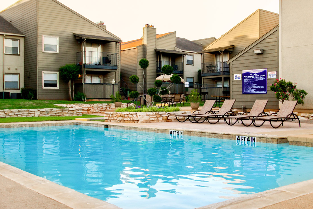 Outdoor Swimming Pool at Stonegate Apartments in Abilene, TX