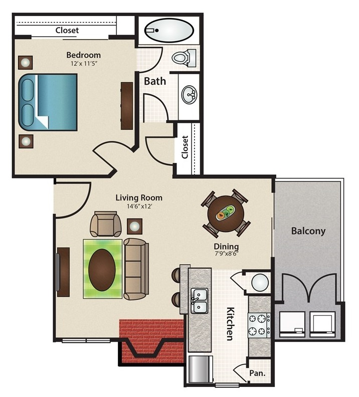 8 X 6 Bathroom Floor Plan