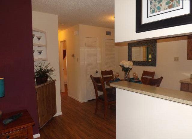 Faux Wood Flooring at Stonehill at Pipers Creek Apartments in San Antonio, Texas