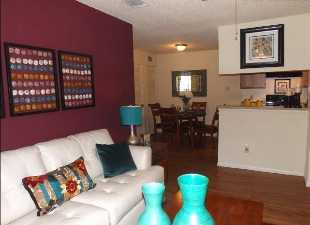 Spacious Living Room at Stonehill at Pipers Creek Apartments in San Antonio, Texas