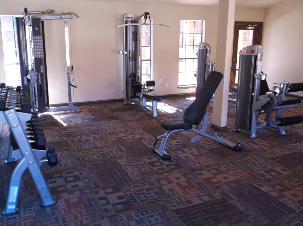Modern Fitness Center at Stonehill at Pipers Creek Apartments in San Antonio, Texas